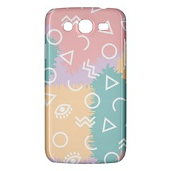 Triangle Circle Wave Eye Rainbow Orange Pink Blue Sign Samsung Galaxy Mega 5 8 I9152 Hardshell Case