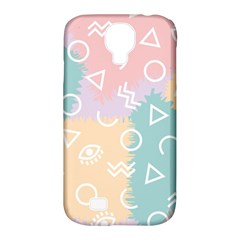 Triangle Circle Wave Eye Rainbow Orange Pink Blue Sign Samsung Galaxy S4 Classic Hardshell Case (pc+silicone) by Alisyart