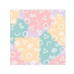 Triangle Circle Wave Eye Rainbow Orange Pink Blue Sign Small Satin Scarf (square) by Alisyart