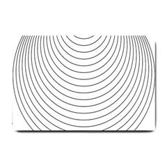 Wave Black White Line Small Doormat  by Alisyart