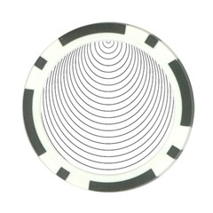 Wave Black White Line Poker Chip Card Guard