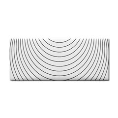 Wave Black White Line Cosmetic Storage Cases by Alisyart