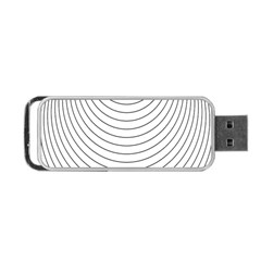 Wave Black White Line Portable Usb Flash (two Sides)