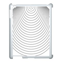 Wave Black White Line Apple Ipad 3/4 Case (white)