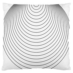 Wave Black White Line Standard Flano Cushion Case (one Side)