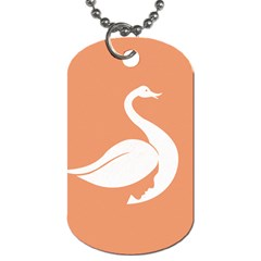 Swan Girl Face Hair Face Orange White Dog Tag (one Side)