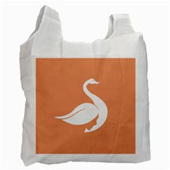 Swan Girl Face Hair Face Orange White Recycle Bag (one Side) by Alisyart