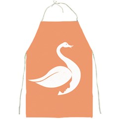 Swan Girl Face Hair Face Orange White Full Print Aprons by Alisyart