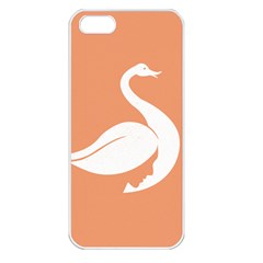 Swan Girl Face Hair Face Orange White Apple Iphone 5 Seamless Case (white)