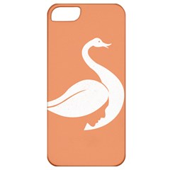 Swan Girl Face Hair Face Orange White Apple Iphone 5 Classic Hardshell Case