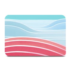 Wave Waves Blue Red Plate Mats by Alisyart