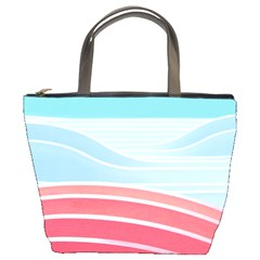 Wave Waves Blue Red Bucket Bags by Alisyart