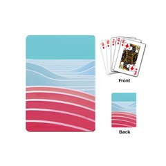 Wave Waves Blue Red Playing Cards (mini)