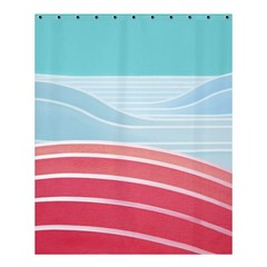 Wave Waves Blue Red Shower Curtain 60  X 72  (medium)