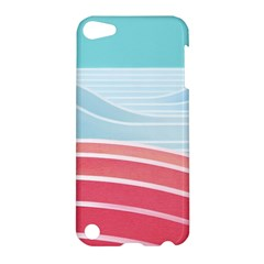Wave Waves Blue Red Apple Ipod Touch 5 Hardshell Case by Alisyart