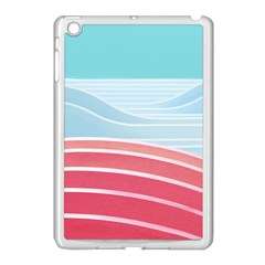 Wave Waves Blue Red Apple Ipad Mini Case (white) by Alisyart