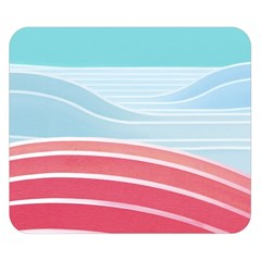 Wave Waves Blue Red Double Sided Flano Blanket (small)  by Alisyart