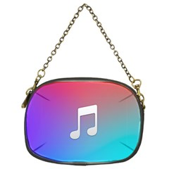 Tunes Sign Orange Purple Blue White Music Notes Chain Purses (two Sides)  by Alisyart