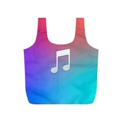 Tunes Sign Orange Purple Blue White Music Notes Full Print Recycle Bags (s)  by Alisyart