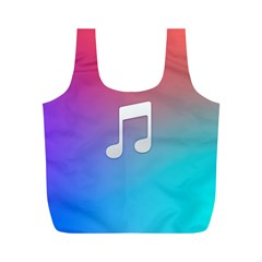Tunes Sign Orange Purple Blue White Music Notes Full Print Recycle Bags (m)  by Alisyart
