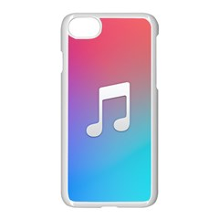 Tunes Sign Orange Purple Blue White Music Notes Apple Iphone 7 Seamless Case (white)