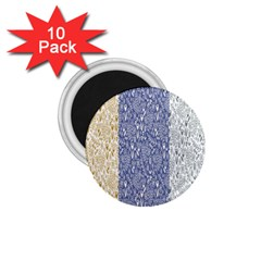 Flower Floral Grey Blue Gold Tulip 1 75  Magnets (10 Pack)