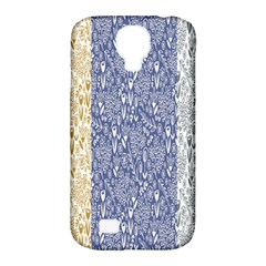Flower Floral Grey Blue Gold Tulip Samsung Galaxy S4 Classic Hardshell Case (pc+silicone) by Alisyart