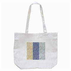 Flower Floral Grey Blue Gold Tulip Tote Bag (white)