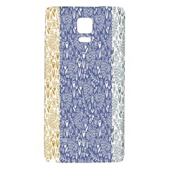 Flower Floral Grey Blue Gold Tulip Galaxy Note 4 Back Case by Alisyart