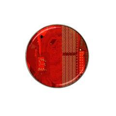 Computer Texture Red Motherboard Circuit Hat Clip Ball Marker (4 Pack) by Simbadda