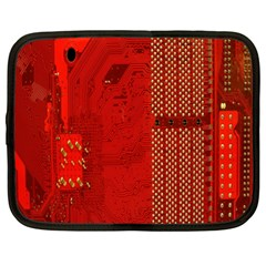 Computer Texture Red Motherboard Circuit Netbook Case (xl)  by Simbadda
