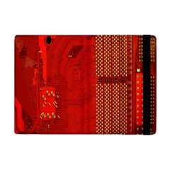 Computer Texture Red Motherboard Circuit Ipad Mini 2 Flip Cases by Simbadda