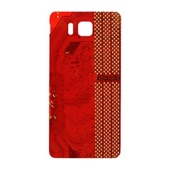 Computer Texture Red Motherboard Circuit Samsung Galaxy Alpha Hardshell Back Case