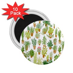 Flowers Pattern 2 25  Magnets (10 Pack)