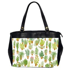 Flowers Pattern Office Handbags (2 Sides)  by Simbadda