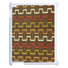 Fabric Texture Vintage Retro 70s Zig Zag Pattern Apple Ipad 2 Case (white)