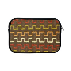 Fabric Texture Vintage Retro 70s Zig Zag Pattern Apple Ipad Mini Zipper Cases