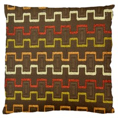 Fabric Texture Vintage Retro 70s Zig Zag Pattern Standard Flano Cushion Case (two Sides) by Simbadda