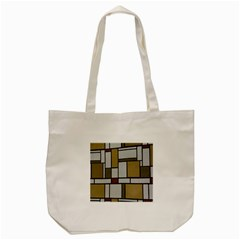 Fabric Textures Fabric Texture Vintage Blocks Rectangle Pattern Tote Bag (cream) by Simbadda