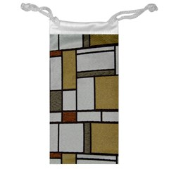 Fabric Textures Fabric Texture Vintage Blocks Rectangle Pattern Jewelry Bag by Simbadda