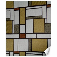 Fabric Textures Fabric Texture Vintage Blocks Rectangle Pattern Canvas 11  X 14   by Simbadda