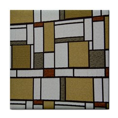 Fabric Textures Fabric Texture Vintage Blocks Rectangle Pattern Face Towel by Simbadda