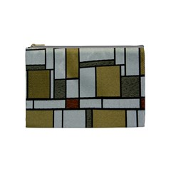 Fabric Textures Fabric Texture Vintage Blocks Rectangle Pattern Cosmetic Bag (medium)  by Simbadda