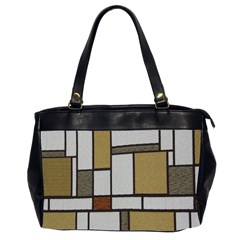 Fabric Textures Fabric Texture Vintage Blocks Rectangle Pattern Office Handbags (2 Sides)  by Simbadda