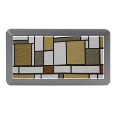 Fabric Textures Fabric Texture Vintage Blocks Rectangle Pattern Memory Card Reader (mini) by Simbadda