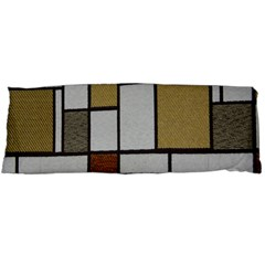 Fabric Textures Fabric Texture Vintage Blocks Rectangle Pattern Body Pillow Case (dakimakura) by Simbadda