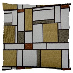 Fabric Textures Fabric Texture Vintage Blocks Rectangle Pattern Large Cushion Case (one Side)