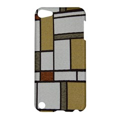 Fabric Textures Fabric Texture Vintage Blocks Rectangle Pattern Apple Ipod Touch 5 Hardshell Case by Simbadda