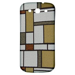 Fabric Textures Fabric Texture Vintage Blocks Rectangle Pattern Samsung Galaxy S3 S Iii Classic Hardshell Back Case