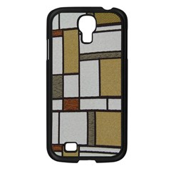 Fabric Textures Fabric Texture Vintage Blocks Rectangle Pattern Samsung Galaxy S4 I9500/ I9505 Case (black)
